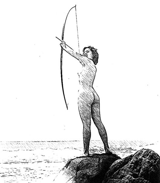 shooting an arrow at the sun