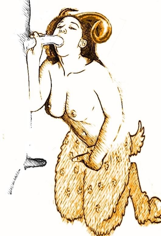 garcon et une fille-satyr