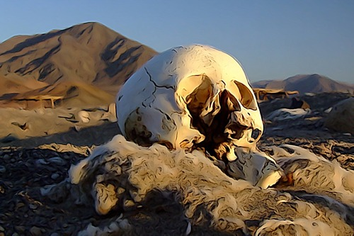 the Syrian desert called Der ez Zor, site of the Armenian genocide