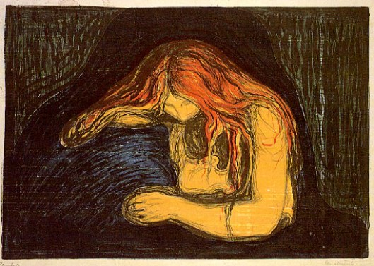woodcut by Edvard Munch, 1895
