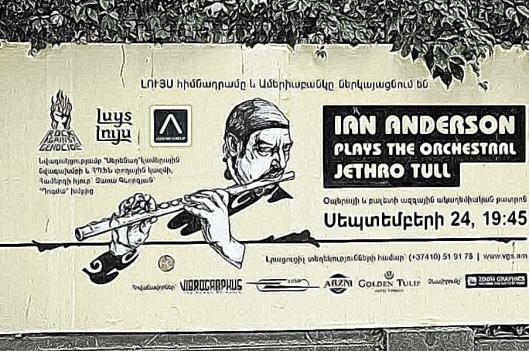 Random poster in Yerevan (Ian Anderson plays Jethro Tull)