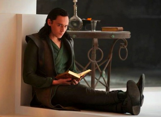 a boy with a book