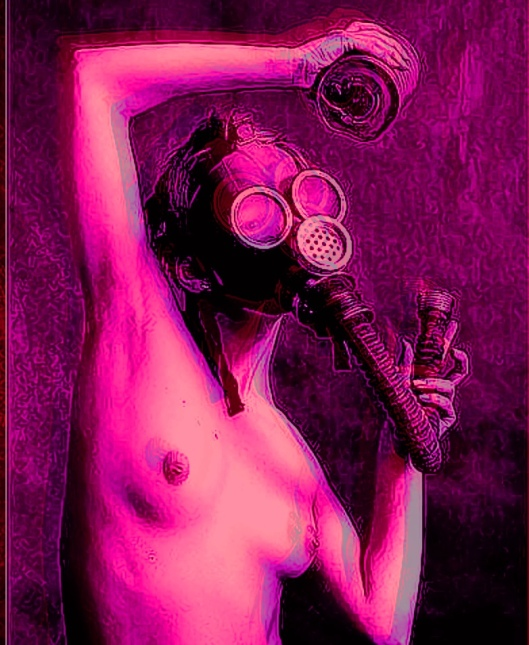gas mask in pink 2
