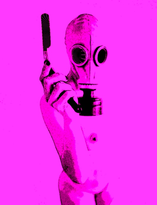 gas mask in pink 4